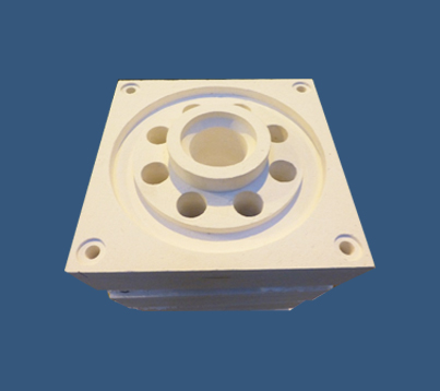Fibre shapes burner blocks